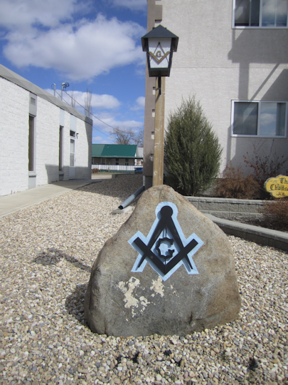 Sign in front of Freemason Hall, Innisfail