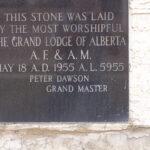 Cener Stone, Red Deer Masonic Hall