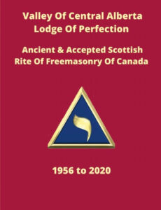 Central Valley Lodge of Perfection - History Book Cover